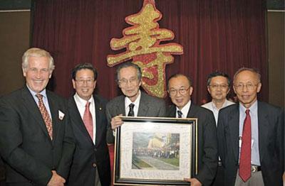 (L-R): Drs. Geert Schmid-Schönbein, Savio Woo, Y.C. Fung, Shu Chien, Peter Chen and Pin Tong